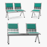 metal waiting chairs model