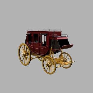 3D stagecoach wild west