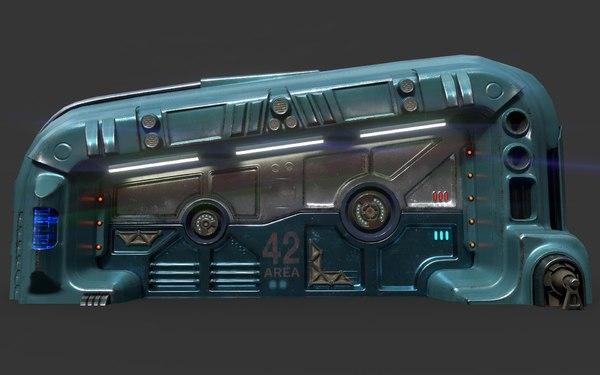 3D sci-fi door 06