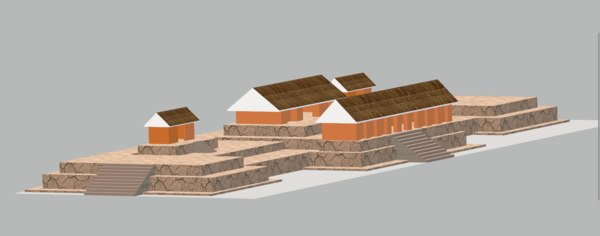 3D model tazumal palace