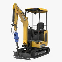 tracked mini excavator earth 3D