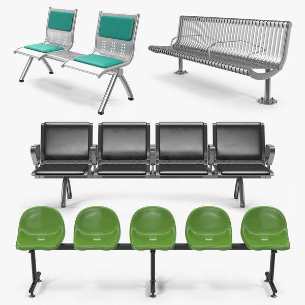 3D waiting chairs