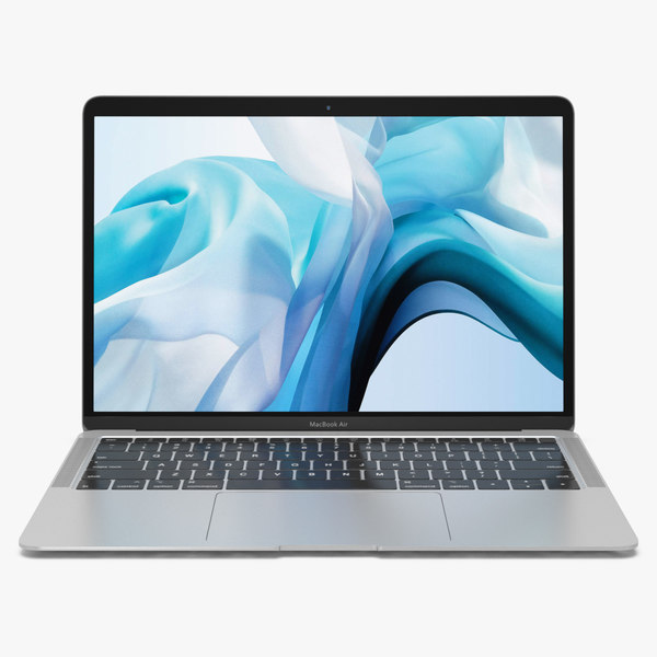 apple macbook air silver 3D model