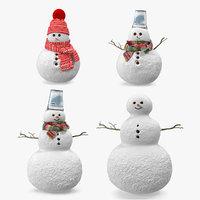 3D snowmans snow