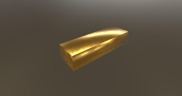 gold ignot model