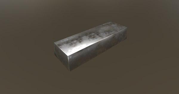 3D steel ignot