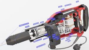 electric hammer 3D model