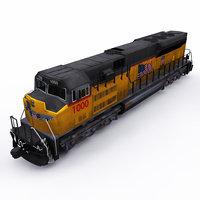 emd locomotive 3D model