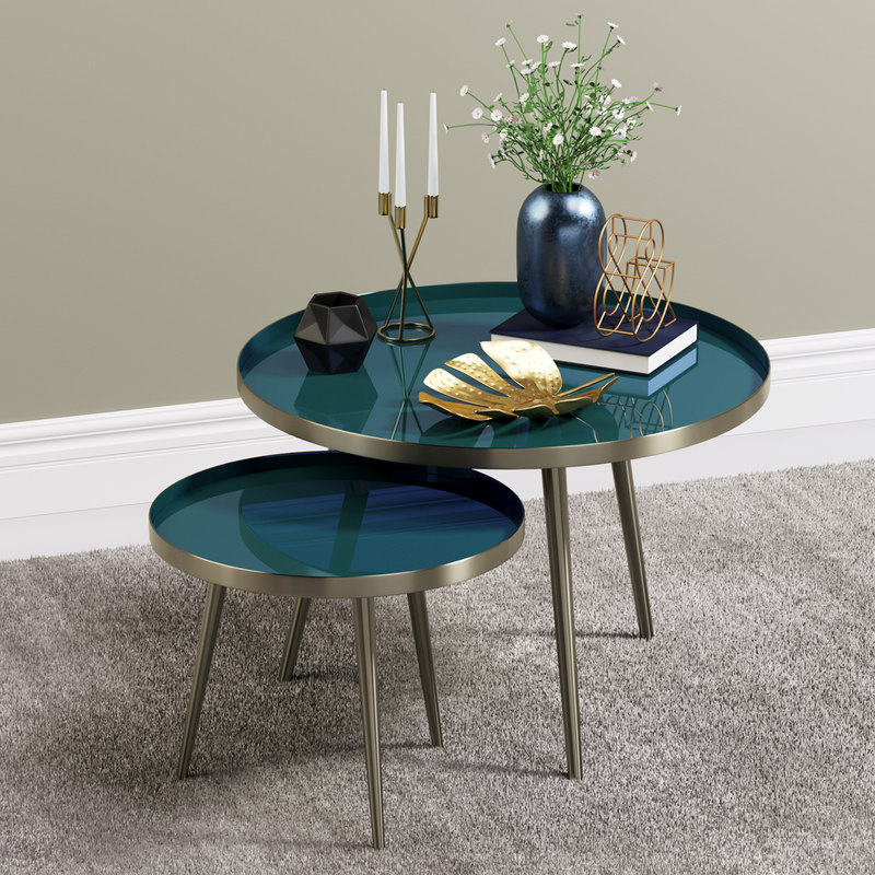 3D enamelled tables decor items