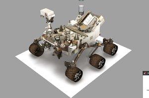 3D model curiosity rover mars