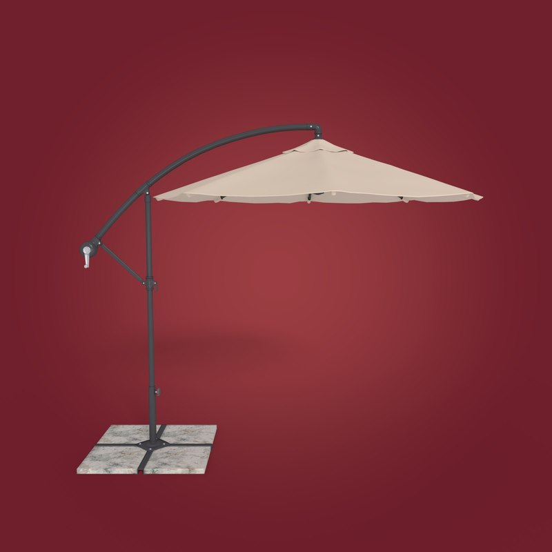 patio umbrella 3D