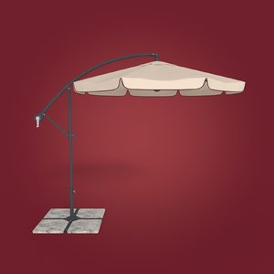 3D model deck umbrella