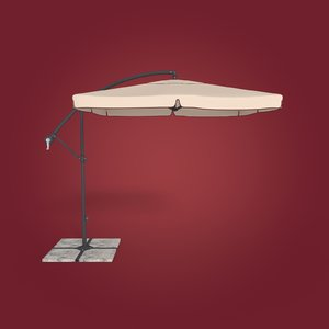 3D deck umbrella
