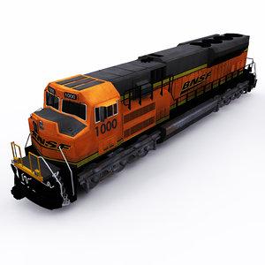 bnsf emd locomotive 3D model