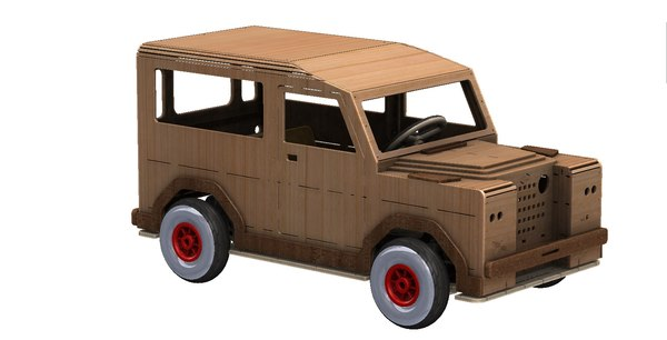 3D land rover tot rod