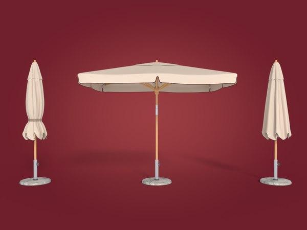 3d model outdoor umbrella