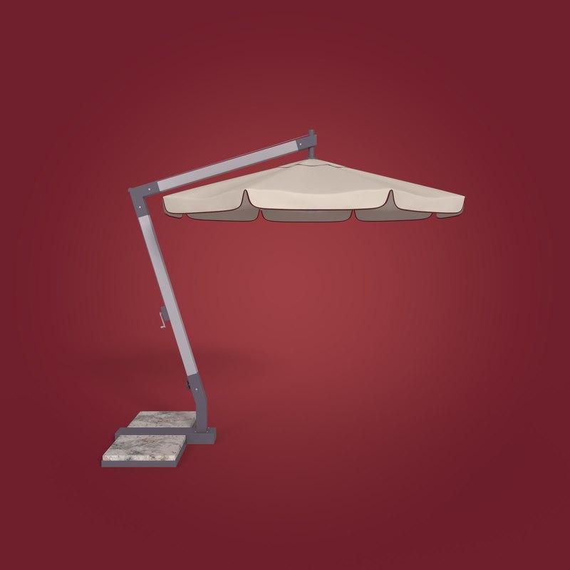 outdoor umbrella 3D model