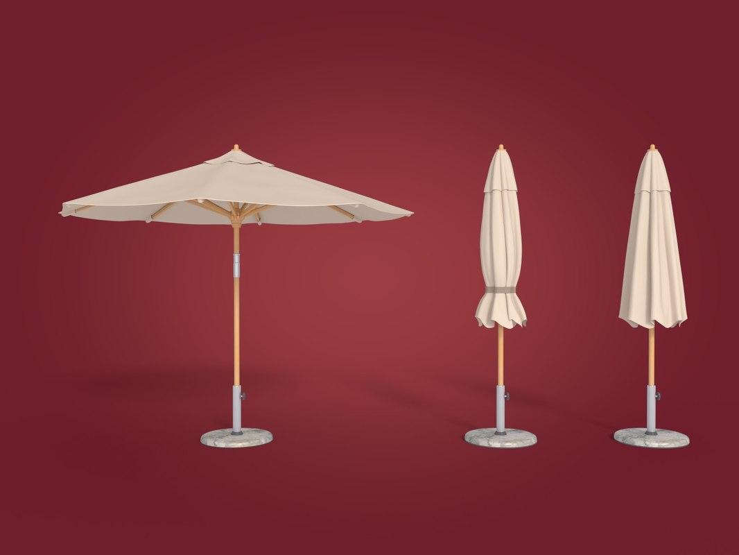deck umbrella obj