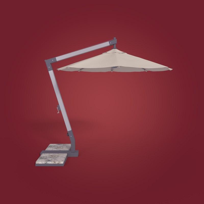 3D patio umbrella model