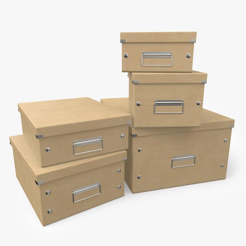 3D office boxes