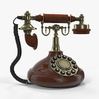 Old Telephone With Rotary Dial 3D Model