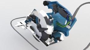 power saw circular 3D