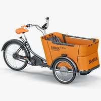 city bicycle babboe curve 3D model