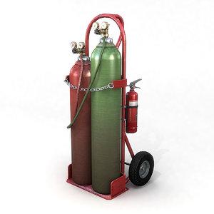 3D oxy-acetylene cart