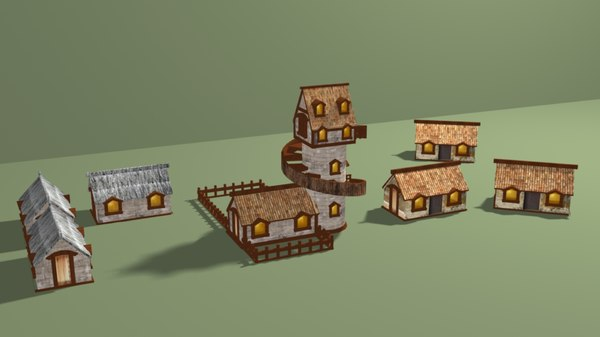 village house home 3D