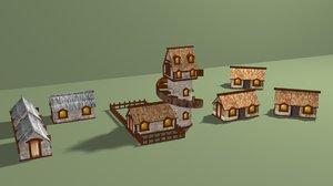 village house home 3D