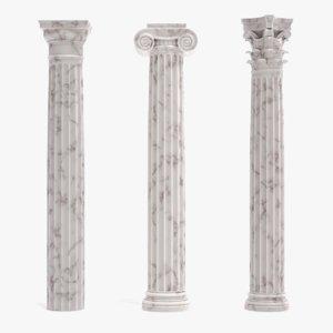 columns pbr 3D