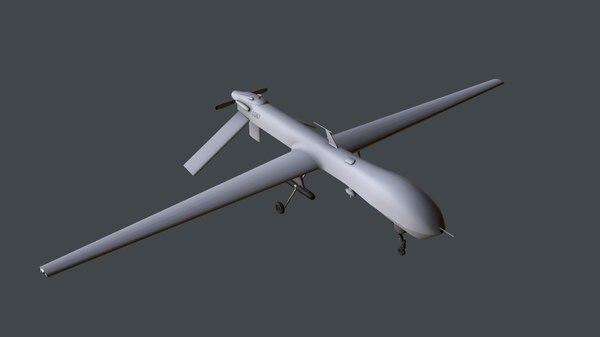 unmanned vehicle drone predator 3D model