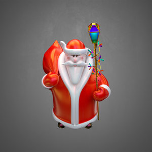 toy santa claus 3D model