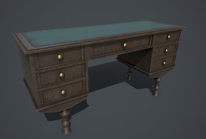 3D model pbr old table