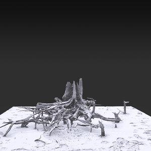desert tree 04 3D model