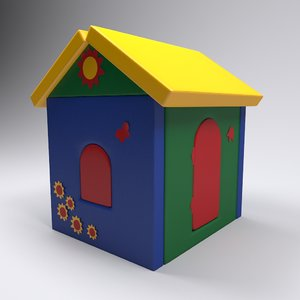 3D kids house baby toy