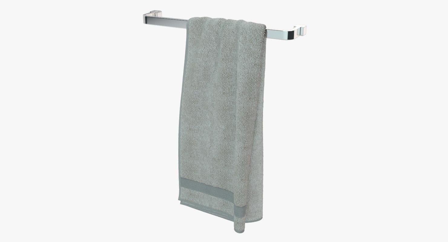 3D model hanging towel
