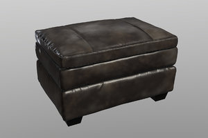 gleason chair ottoman furniture 3D model
