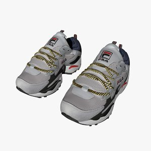 3D fila sports shoes model