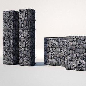 3D gabion elements architecture