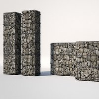 gabion architecture design 3D