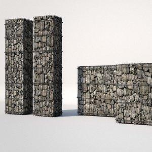 gabion architecture design 3D