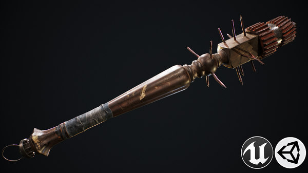 3D model club weapon
