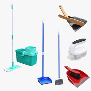 3D mop broom tools model