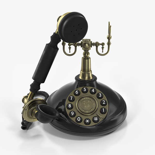 old fashioned retro telephone model