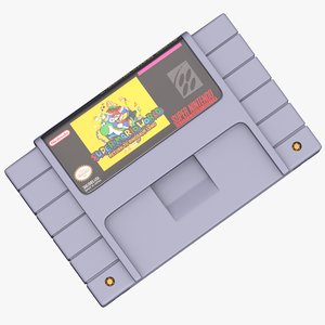 3D snes cartridge super model