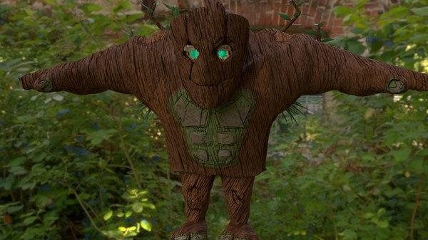 forest golem 3D model