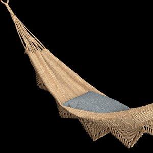 3D cloth-hammock model