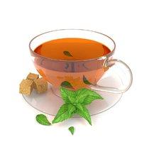 3D tea cup beverage sugar model