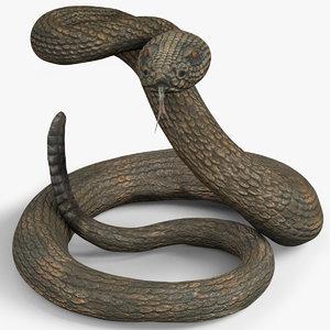 3D snake ornament